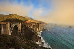 Crawling Clouds (Shawn S. Park) Tags: sanfrancisco california bigsur shawn bixbybridge 1635lii eos1dx