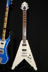 LEGO Flying V and Rickenbacker 4001 (ChrisR18t) Tags: lego guitar gibson flcl rickenbacker flyingv cooly 4001 fooly