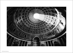 Pantheon, Rome (Ian Bramham) Tags: light shadow bw italy rome architecture photo pantheon ianbramham
