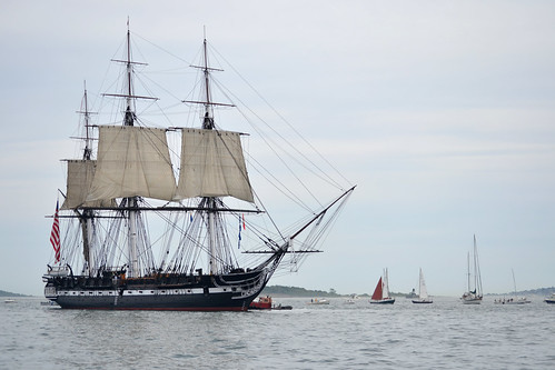 USS Constitution sets sail.
