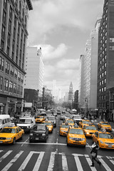 New York Taxi (RyanMorris_Photography) Tags: elements newyork blackandwhite new york taxis