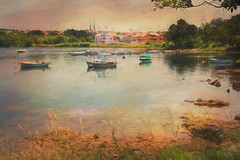 SL080616 Medulin 04 (Sh4un65_Artistry) Tags: artwork boats buildings churches coastal croatia croatiaholiday2016 digitalart digitalpainting events landscape painteffect paintedphoto painterly places textured topaz topazimpression topaztextureeffects transport water