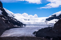 160621_03 (LoomahPix) Tags: ab alberata canada coulumbiaicefields icefieldsparkway mountain mountains outdoors outside rockymountaineer athabasca athabascaglacier beautiful beauty clouds glacier sky