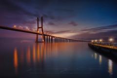 Vasco de Gama night (sgsierra) Tags: vasco de gama puente bridge portugal night noche larga exposicin long exposition arquitectura architecture