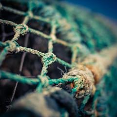 Basket (fishyfish_arcade) Tags: 20mmf17 gx7 lumix panasonic panasonic20mmf17asphlumixg seaside basket net knots square