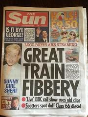 Scandal ! England July 13 (Rinus H0) Tags: thesun trainspottinglive bbc bbcfour trainspotting trains newspaper scandal uk unitedkingdom britain greatbritain england brexit war pm prime minister 2016 july 13