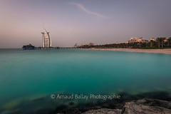 Burj Al Arab (http://arnaudballay.wix.com/photographie) Tags: beach dubai jumeirah mer plage sea seascape sunset uae leefilter nisifilter nd1000 nd64 bigstopper littlestopper gnd longexposure buralarab madinatjumeirah alqasr pierchic restaurant hotel emirates