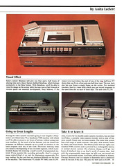 VCRs - the Second Generation, Esquire, October 1979 (Tom Simpson) Tags: vcr videocassetterecorder 1979 1970s vhs beta betamax electronics vintage hifi stereo video sonybetamax sony panasonic omnivision akai activideo