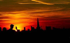 Sunset (Michael Adedokun) Tags: nature amazing couples people greenwichpark londonskyline theshard skyscrapers moody clouds sky architecture buildings silhuette skyline london sunset
