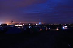 Totterdown by Night (Hr3n) Tags: totterdownfarm night longexposure colour purple blue fairford fairfordairshow lights evening 2016 summer