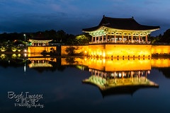 Reflection of the Past (Boyd Images) Tags: boydimagesphotography gyeongju korea nikond7100 southkorea architecture culture lights longexposure outdoors palace photography reflection traditional