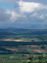 Clouds above the valley (schauplatz) Tags: badenwrttemberg deutschland schwbischealb sommer wanderung clouds wolken fields felder summer