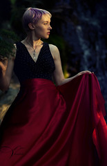 Enchanted Forest (KVanPhotography) Tags: portrait photoshoot red dress woods forest jewlery editoral fashion shoot photography nikon d7200 85mm