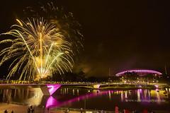 OzAsia Moon lantern Festival (Valley Imagery) Tags: ozasia moon lantern australia adelaide southaustralia night city fireworks stadium bridge torrens river