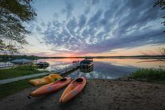 Kayak Sunset on Dead Lake, Minnesota (Photomatt28) Tags: minnesota reflection sunset travel