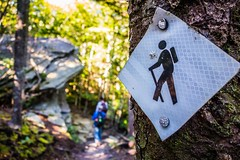nature trail scenes to calloway peak north carolina (AgFineArtPhotography.com) Tags: nature trail scenes tocallowaypeak northcarolina grandfather mount mountain danielboonetrail craggy trees hike highest beautiful camping relaxing healthy sunnyday blueridge parkway nc smokymountains walk rocks forest wilderness strenuous sign mark hiker