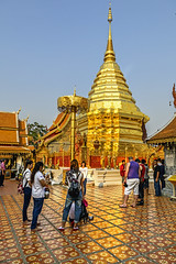 The Doi Suthep Golden Pagoda (Anoop Negi) Tags: doi suthep thailand golden pagoda lord buddha relic shrine holy sacred buddhism chiangmai photo photography sunlit anoop negi ezee123