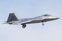 3. USAF F22 (CaptainDoony) Tags: usaf us air force f16 kc135 f22 f35 f35b mcdonnell douglas boeing nellis base nevada las vegas