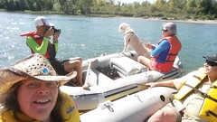 Rafting Buddies on the Bow (Downhillnut) Tags: calgary alberta raft rafting bowriver summer august 2016 river float selfie hats