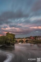 casleford bridge 2-9-16 (law-photography2014) Tags: castleford bridge milleniumbridge westyorkshire sunset water longexposure leeward lawphotography leewardatlawphotography canon6d canon1740l