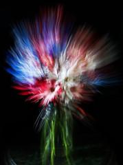 AMERICANA (MacroMarcie) Tags: hss flowers motion blur slidersunday floralarrangement canning jar vase flower red white blue laborday holiday natural light daisy patriotic americana