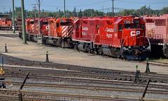 Part of the deadline (Michael Berry Railfan) Tags: cp canadianpacific westonyard winnipeg manitoba emd gmd sd402 gp382 cp7306 lehighvalley delawarehudson dh