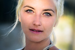 Laura. (FlorianPascual) Tags: ifttt 500px girl blonde hair eyes skin beauty model beautiful female face white young light cute montpellier france beach wind closeup photo photography florian pascual laura gonzales portrait portraiture
