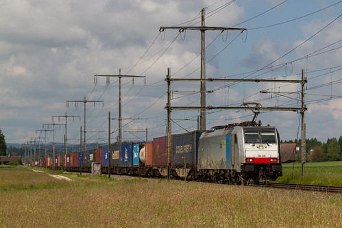 Lyssach | CH-BE (Bern) | 30.05.2014 | Railpool rental locomotive 186 108