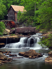 Return To The Glade (Bill Fultz) Tags: gladecreekgristmill gladecreek babcockstatepark waterfall westvirginiawaterfall westvirginia newrivergorge newrivergorgenationalriver workingmill fayettecounty