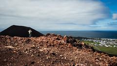Vestmannaeyjar 03 (arsamie) Tags: west man islands iceland red green rock mountain volcano horizon look far houses watch