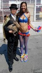 Dr. Takeshi Yamada and Seara (Coney Island Sea Rabbit) at the Mermaid Parade by the Coney Island Beach in Brooklyn, New York on June 18, 2016.  20160618SAT MERMAID PARADE. DSCN6606=p-1010C1. (searabbits23) Tags: searabbit seara takeshiyamada  taxidermy roguetaxidermy mart strange cryptozoology uma ufo esp curiosities oddities globalwarming climategate dragon mermaid unicorn art artist alchemy entertainer performer famous sexy playboy bikini fashion vogue goth gothic vampire steampunk barrackobama billclinton billgates sideshow freakshow star king pop god angel celebrity genius amc immortalized tv immortalizer japanese asian mardigras tophat google yahoo bing aol cnn coneyisland brooklyn newyork leonardodavinci damienhirst jeffkoons takashimurakami vangogh pablopicasso salvadordali waltdisney donaldtrump hillaryclinton endangeredspecies parade