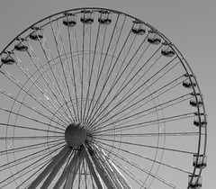 Empty Ferris Wheel (Catskills Photography) Tags: blackandwhite ferriswheel wildwoodnj top20blackandwhite canon55250mislens