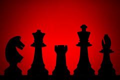 """Piezas de ajedrez (1) (remake)"" (Marcelo Savoini) Tags: red color rojo nikon acrylic pieces sb600 chess ajedrez piezas acrílico 105mmmicrovr d7000"