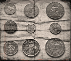 How times Change! (billy curtis) Tags: coins pre penny half crown currency shilling decimal coinage farthing halfpenny sixpence florin threepence
