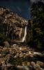 Moonlit Lower Yosemite Falls (Deby Dixon) Tags: nightphotography travel tourism nature water night stars photography waterfall nikon hiking adventure yosemite moonlight yosemitenationalpark deby allrightsreserved 2012 slowexposure loweryosemitefalls debydixon debydixonphotography