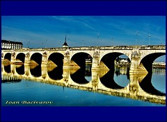 Saumur sur Loire (Ioan BACIVAROV Photography) Tags: city bridge blue france reflection water beautiful landscape colours magic colourful loire saumur beautifulcomposition masterphotos mygearandme mygearandmepremium flickrstruereflection2 flickrstruereflection3 ioanbacivarov ioanbacivarovsphotostream