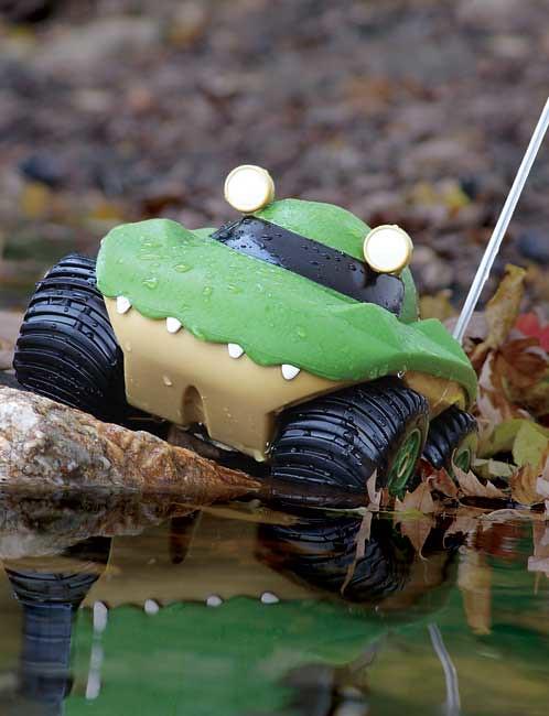 Kid Galaxy Morphibians Rover越野两栖遥控四驱车,不错,路上水上都能跑~