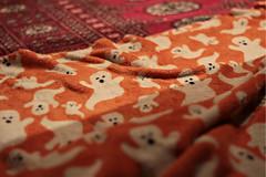 Ghost blanket! (SaraSmo) Tags: orange halloween blanket ghosts
