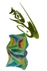 Escultura abstracta (Jocarlo) Tags: abstract art esculturas photowalk imagination monumentos abstracto melilla parques montajesfotogrficos photowalkmelilla pwmelilla jocarlo