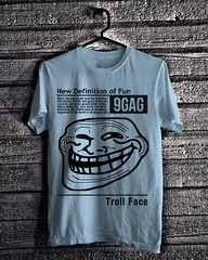 Troll Face - Light Blue (everydayshirt) Tags: indonesia tshirt gift kaos distro everydayshirt