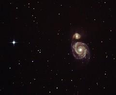 M51 : Whirlpool Galaxy & HIP66004 (star) (Ash.Cox) Tags: m51 whirlpoolgalaxy skywatcher canon1100d 200pp