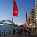 CeBIT flags - Circular Quay