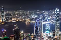 Hongkong Night View from the Peak 3rd (.Gianluca) Tags: china light panorama holiday colors skyline river hongkong commerce delta pear resolution thepeak thekong