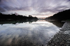 Chasing light (Nick Twyford) Tags: sunset newzealand lake colour reflection water clouds rural nikon wideangle filter lee waikato northisland karapiro 1024mm 06gnd d7000