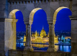 Parlamento de Budapest desde el Bastion de los Pescadores