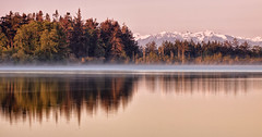 A Pretty Little Lake by the Sea (Michael Riffle) Tags: morning trees light mist lake mountains reflection water sunrise canon landscape photography dawn washington spring day northwest may olympicpeninsula clear whidbeyisland pacificnorthwest vista pugetsound olympics deceptionpass 2012 cranberrylake olympicmountains salishsea washingtonstateparks
