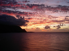 Kauai - Puff the Magic Dragon (knightime creations by bess) Tags: pink clouds hawaii kauai tropical princeville hanaleibay puffthemagicdragon bessknight photocontesttnc12 knightimecreationsbybess