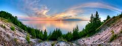 Sleeping Bear Bay ... sunset 6.4.12 (Ken Scott) Tags: sunset usa june spring michigan may lakemichigan greatlakes treeline hdr 2012 freshwater voted leelanau manitouislands sbdnl sleepingbeardunenationallakeshore mostbeautifulplaceinamerica kenscottphotography kenscottphotographycom