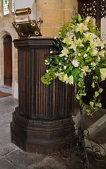 Chedzoy - 16th century Pulpit (David Cronin) Tags: mary somerset virginmary pulpit saintmarythevirgin edwardvi linenfold chedzoy
