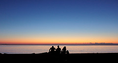 Greatness (Ai in Technicolor) Tags: sunset sky black mare colours venus friendship alba blu infinity shore cielo palermo infinito azzurro colori nero spiaggia greatness venere majesty silouhette foroitalico desiderio grandezza venusssolareclipse eclissidivenere